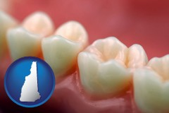new-hampshire map icon and teeth and gums